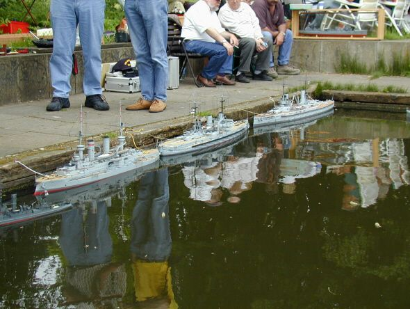 Models of Imperial German Navy ships